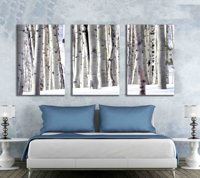40 Best Beautiful Home Decor Images On Pinterest Artist Canvas Rhpinterest: Paintings For Living Room With Birch Trees At Home Improvement Advice