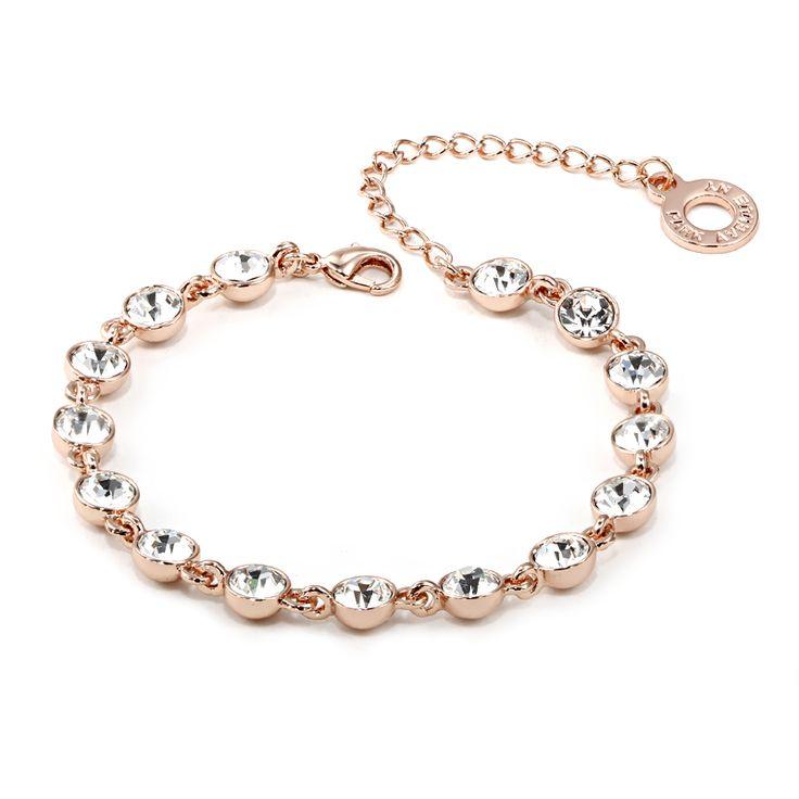 Park Avenue Armband, 750 rosé vergoldet, Swarovski Crystals Jetzt bestellen unter: https://mode.ladendirekt.de/damen/schmuck/armbaender/goldarmbaender/?uid=97398f92-084a-5c94-b4af-0a872265b67d&utm_source=pinterest&utm_medium=pin&utm_campaign=boards #schmuck #goldarmbaender #armbaender #bekleidung Bild Quelle: brands4friends.de