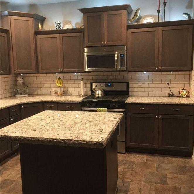 20 Key Pieces Of Kitchen Tile Backsplash Ideas Back Splashes Cabinet Colors 46 Brown Kitchen Cabinets Kitchen Tiles Backsplash Backsplash With Dark Cabinets
