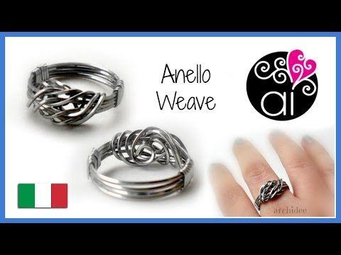 Tutorial Wire | Anello Weave in acciaio inox - YouTube