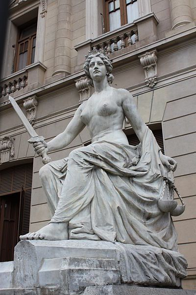 Justice, Lola Mora sculpture in the Government House of Jujuy