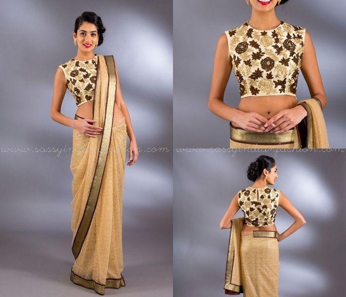 Blouse Neck Designs for Designer Sarees