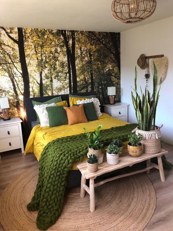 Pin By Anita Nyakato On Interior Design Bedroom Decor House Interior Bedroom Green