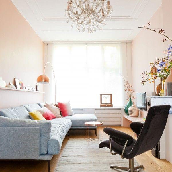 Styling: Marianne Luning voor vtwonen, koper, roze, bloemen, vintage & nieuw