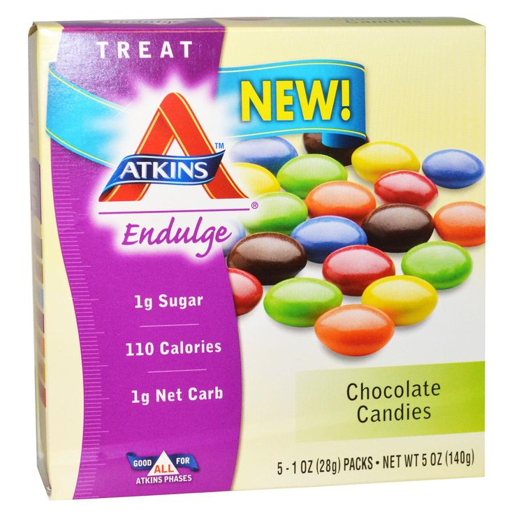 Atkins, Treat Endulge, Chocolate Candies, 5 Packs, 1 oz (28 g) Each - iHerb.com