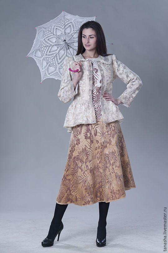 """Купить Валяное платье """"Цветы осени"""" - валяное платье, платье, Платье нарядное, платье валяное"""
