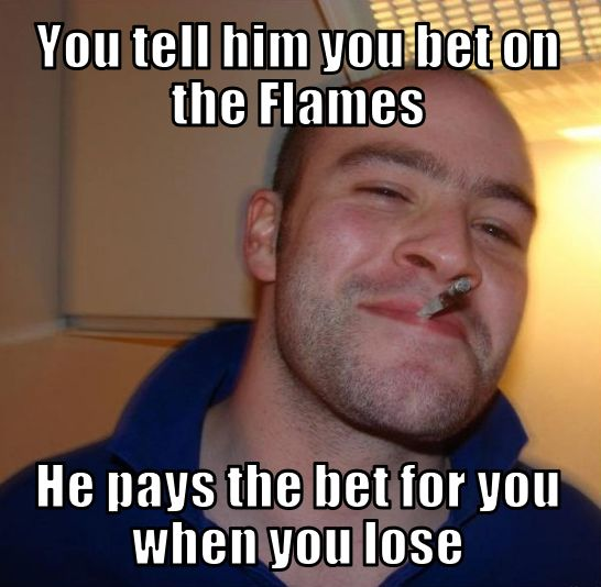 Canucks Flames Memes Good Guy Greg