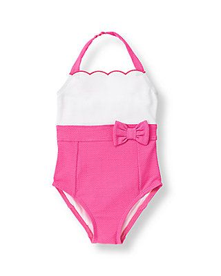 Colorblock Swimsuit Paradise Pink- $39