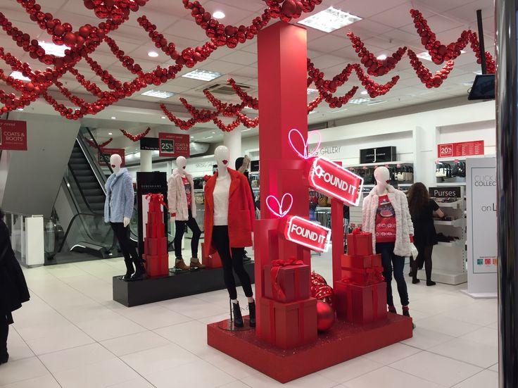 Christmas in Clapham. Visual merchandising #foundit #debenhamschristmas #debenh…