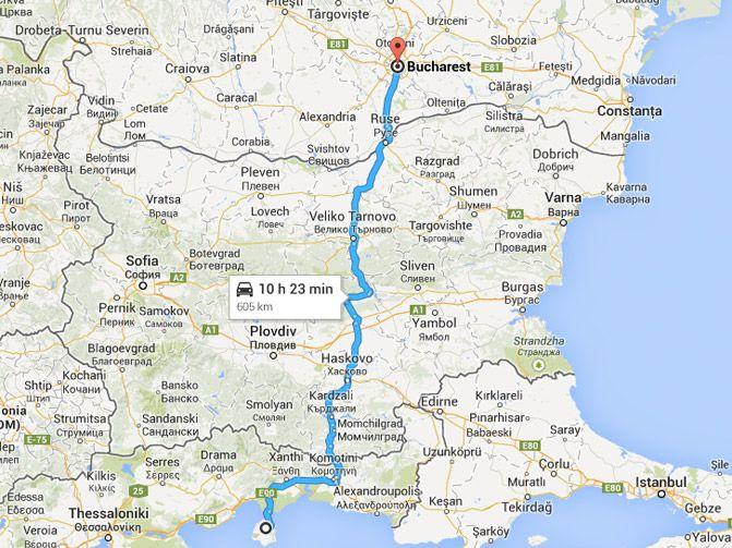 Drumul Bucuresti - Thasos prin punctul de frontiera Makaza | Mihai Jurca