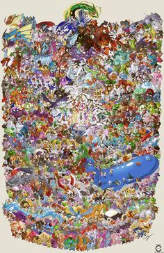 Guy Draws All 721 Pokemon in One Massive Image