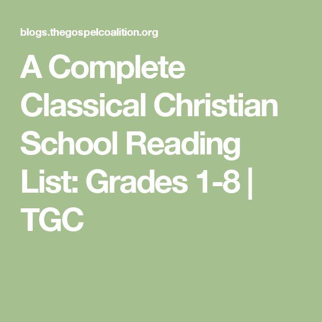 A Complete Classical Christian School Reading List: Grades 1-8 | TGC