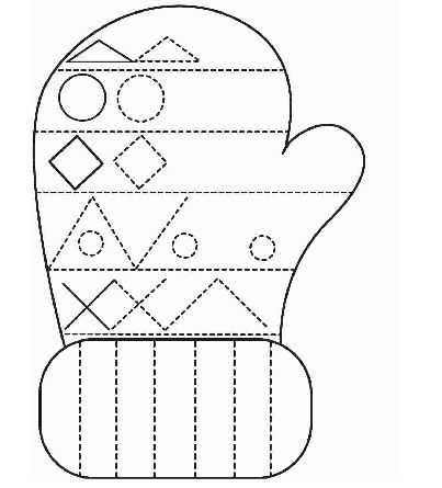 Winter clothes tracing worksheet for kids | Crafts and Worksheets ...