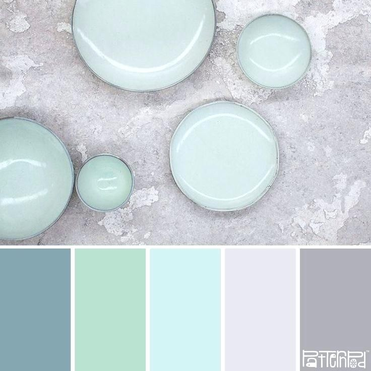 Seafoam Green And Gray Color Scheme Minted Blue Colour Schemes