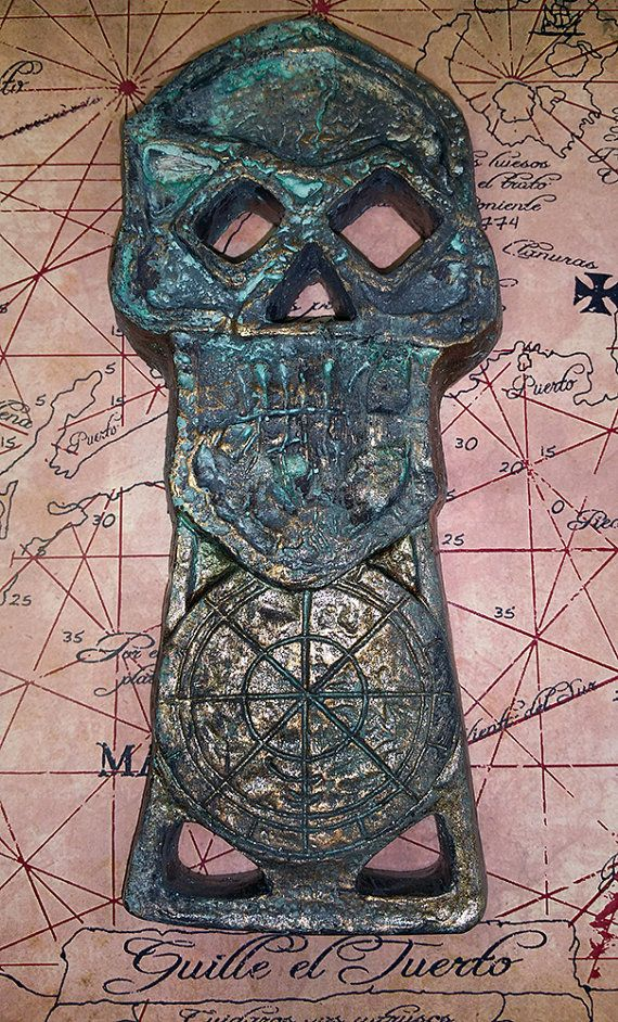 Goonies One Eyed Willie Copper Bones Skeleton Key replica prop