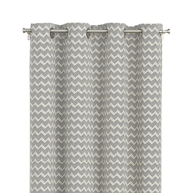 "Reilly 50""x108"" Grey Chevron Curtain Panel 
