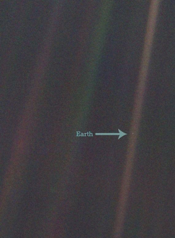 Pale Blue Dot. Image Credit NASA/Rebecca J.Rosen #Illustration #Earth