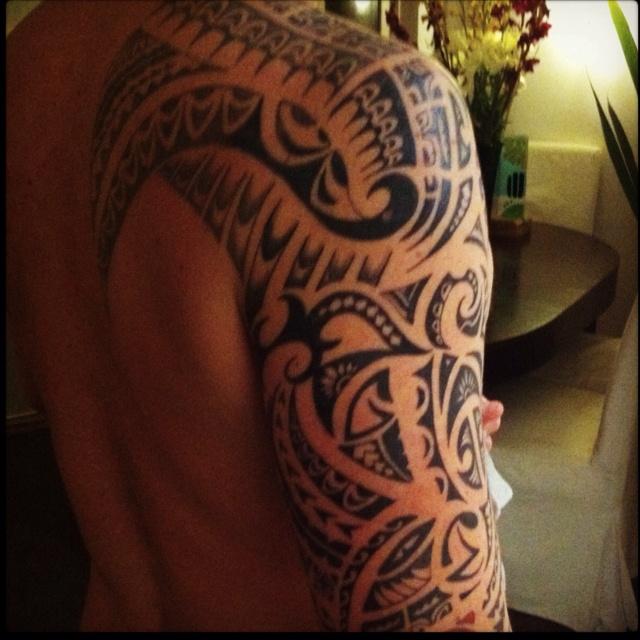 Maori Tattoo Design From Rarotonga Cook Islands
