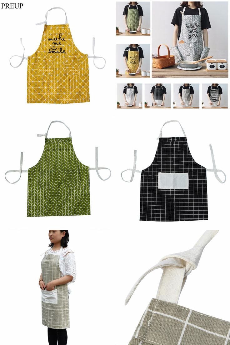 [Visit to Buy] 2017 Durable Cotton Cooking Baking Aprons Kitchen Apron Restaurant Aprons For Women Home Sleeveless Apron High Quality #Advertisement