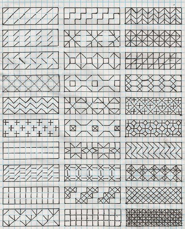 Downloadable Diaper Pattern Chart  free blackwork