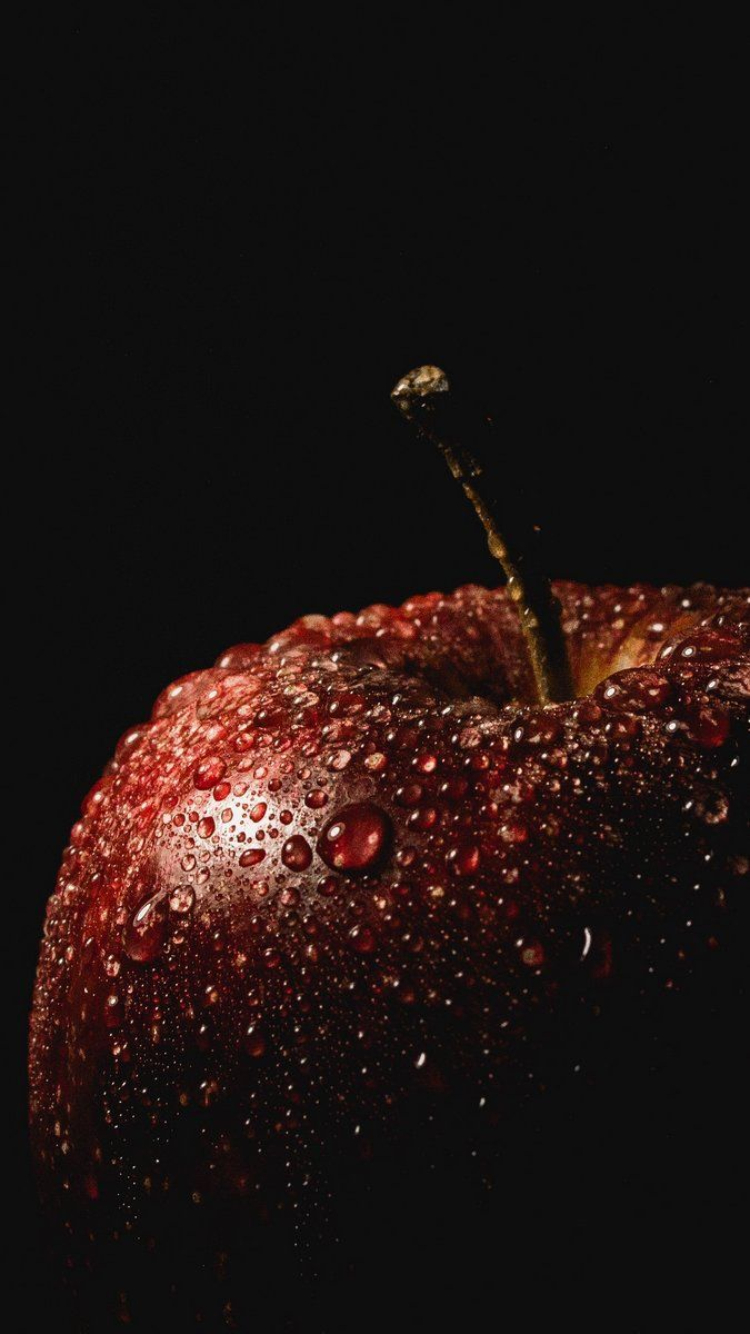 Apple Drops Black Background Wallpaper Background Black Background Wallpaper Photography Ideas At Home Fruit Photography