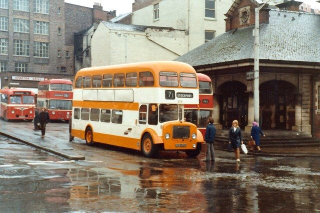878 Selnec Cheshire Rdb787 Dennis Loline Iii Alexander G Ex North Western Stockport Mersey Square Manchester Buses Stockport Manchester Police