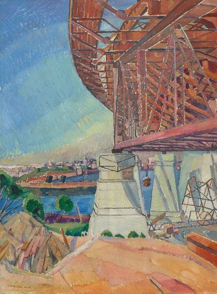 An image of The curve of the bridge - Grace Cossington Smith - Art Gallery of NSW