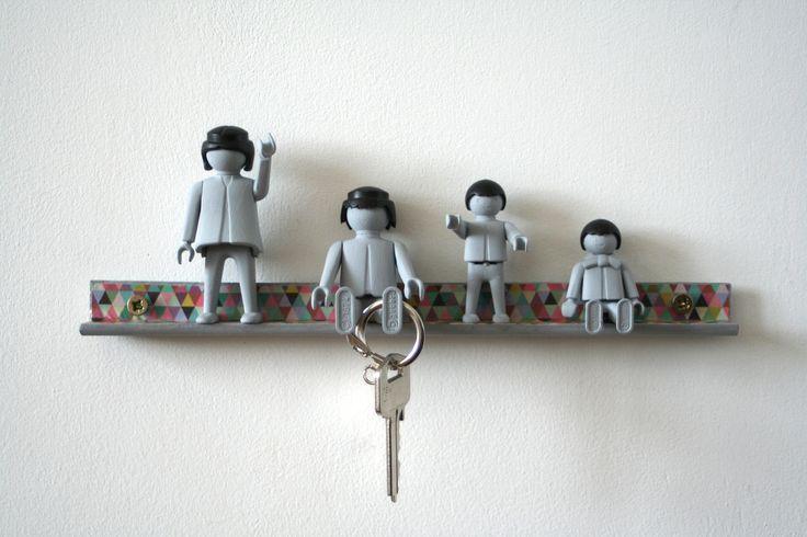 Accroche-clés figurines vintage pour décorer son entrée ! : Décorations murales par les-mobidulles