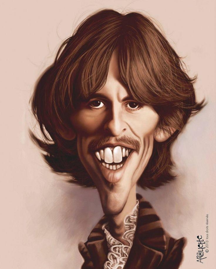 Caricatura de George Harrison
