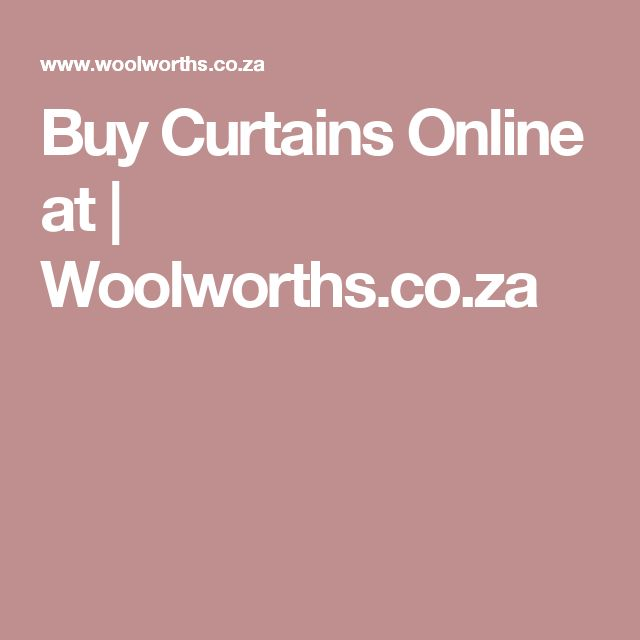 Buy Curtains Online at | Woolworths.co.za