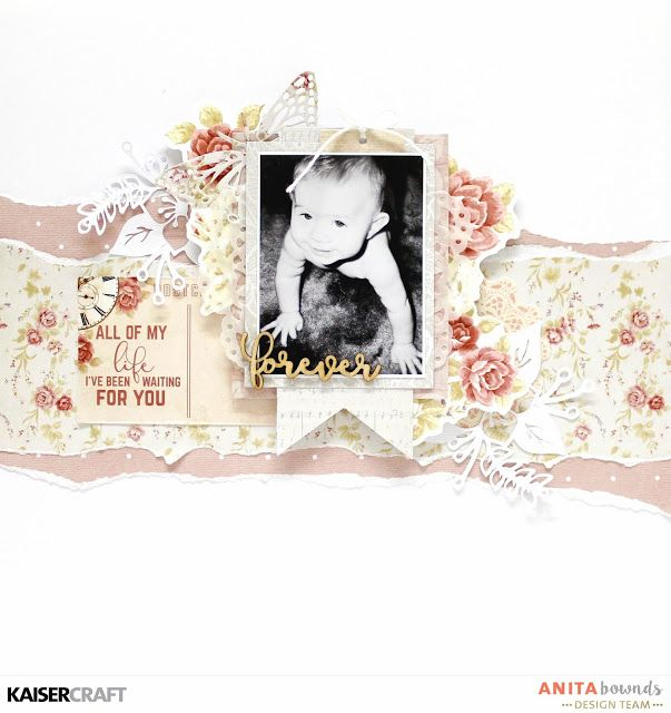 forever layout and Process video with Anita Bownds – Kaisercraft Official Blog - P.S. I Love You