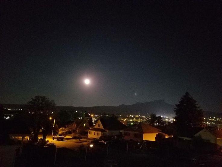 Full moon over Trinidad, Colorado. Robert Monarco-Wade, 6/9/2017