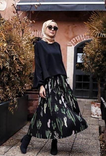 44 Ideen Rock Outfits Hijab Schals