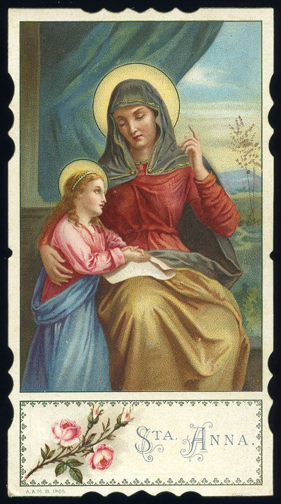 antico santino cromo-holy card S.ANNA