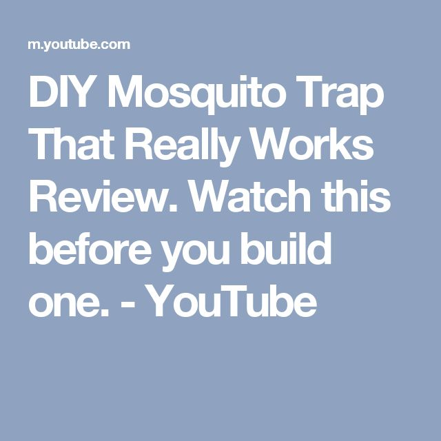 DIY Mosquito Trap That Really Works Review. Watch this before you build one. - YouTube