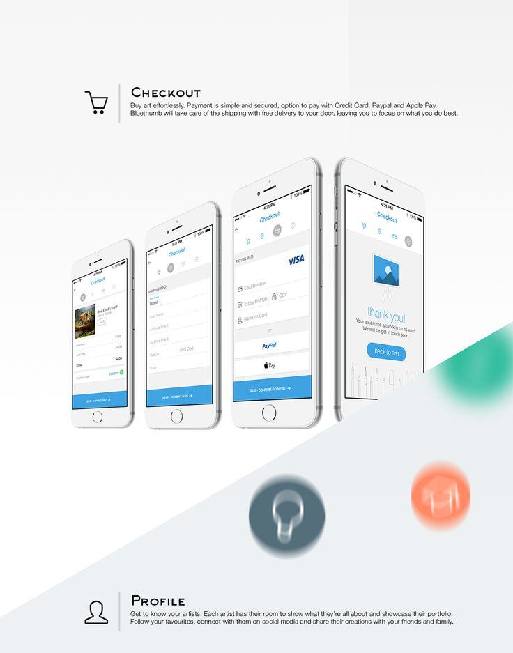 Bluethumb Ecommerce App on App Design Served