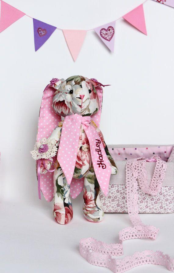 Personalized stuffed bunny Personalized toy Stuffed by TildaArt