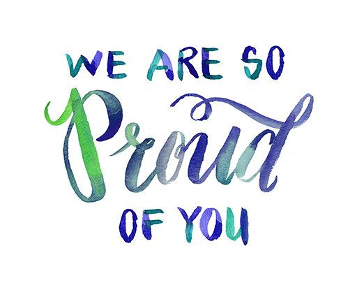 We Are So Proud Of You Quote Card. Graduate by MuseLaLuna on Etsy