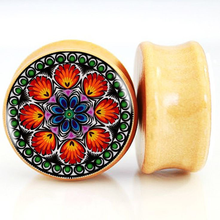 Find More Body Jewelry Information about 1 pair/lot Ancient Indian Style Red Mandala Wood Ear Plug Flesh Gauges Tappi Per Le Orecchie Body Piercing Jewelry 6mm 25mm,High Quality body piercing jewelry,China piercing jewelry Suppliers, Cheap wood ear plug from DreamFire Store on Aliexpress.com