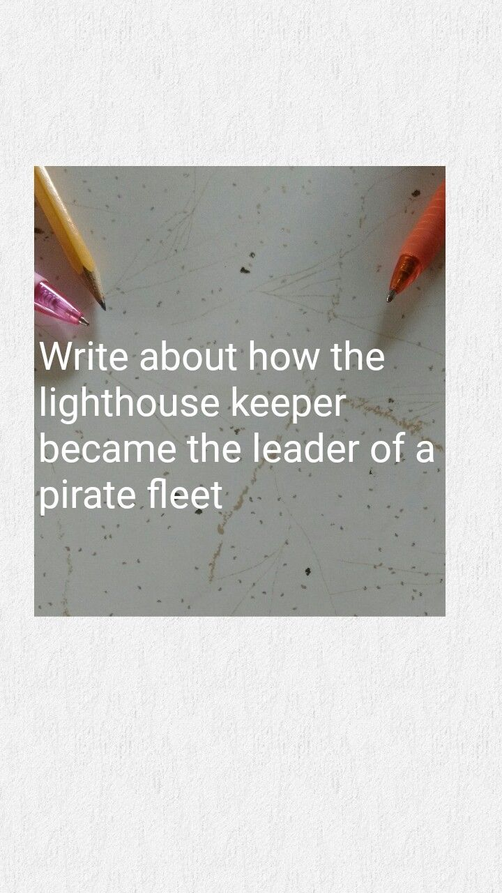 Write about how the lighthouse keeper became the leader of a pirate fleet. A pirates life for me. TWIST: it was the lighthouse keeper's son/daughter. A lighthouse. A dark, foggy night.