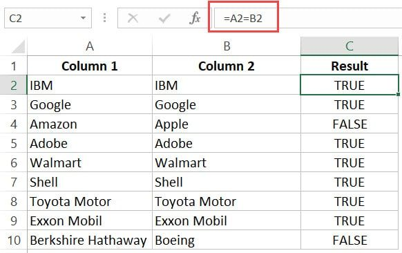 How To Compare Two Columns In Excel For Matches Differences Excel Column Workbook