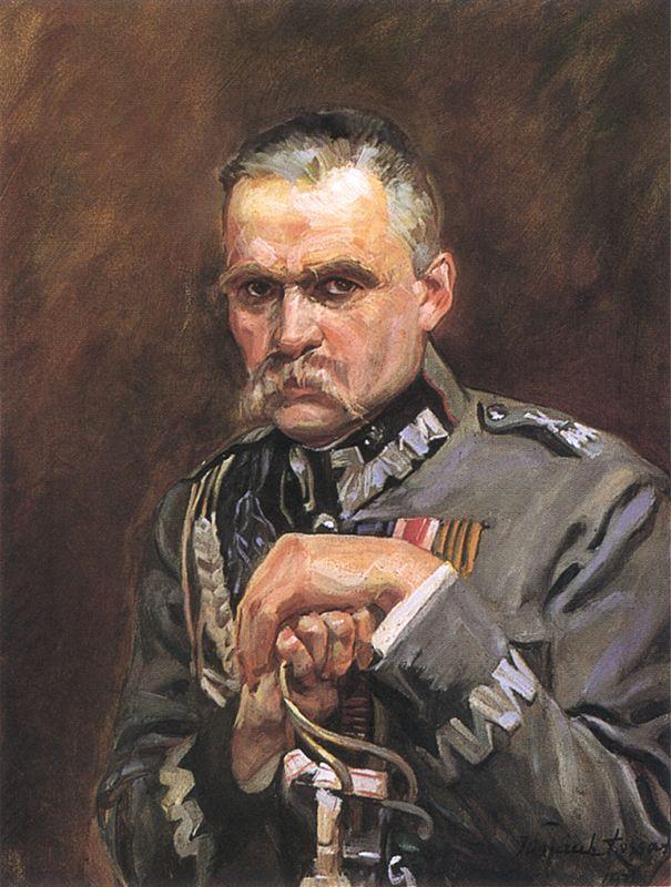 Wojciech Kossak - Portret Marszałka Józefa Piłsudskiego,   1928
