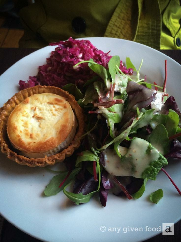 The goats cheese tartlet with red onion marmalade, a beetroot salad and mixed leaves, pictured at Café Mocha, Kilkenny, #ireland.
