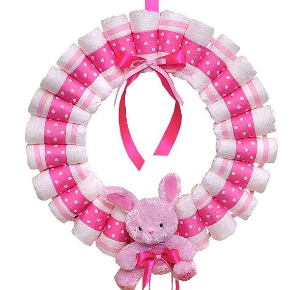 diaper wreath / baby shower / gift idea / craft