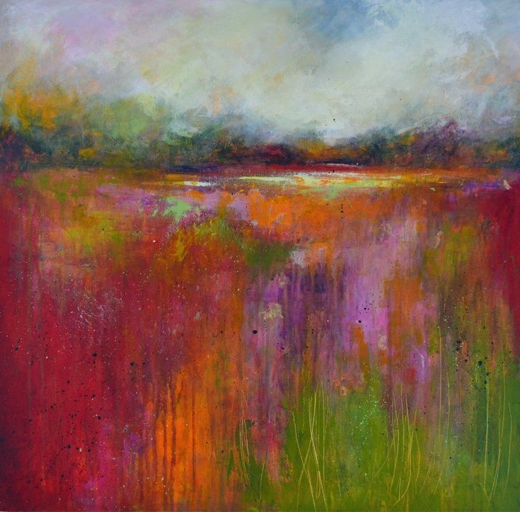ARTFINDER: Abstract Landscape 26 by Tracy-Ann Marrison - Large, colourful abstract landscape painting on stretched canvas (deep edge). Inspired by memories of visited places and imagination this expressive artwork...