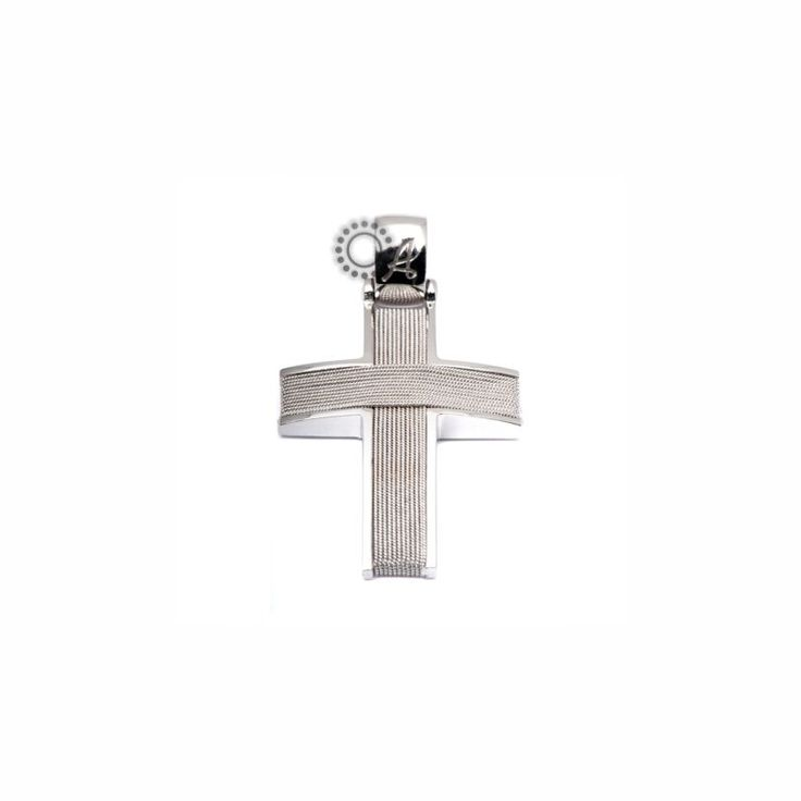 Ένας χειροποίητος σταυρός βάφτισης για αγόρι λευκόχρυσος Κ14 πλεγμένος με λευκόχρυσο σύρμα και γυαλιστερό πλαίσιο | Βαπτιστικοί σταυροί ΤΣΑΛΔΑΡΗΣ στο Χαλάνδρι #βαπτιστικός #σταυρός #βάπτισης #χειροποίητος #αγόρι