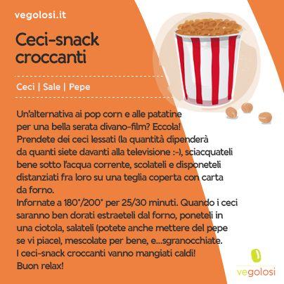 #Ricetta veloce: #ceci #snack croccanti - www.vegolosi.it