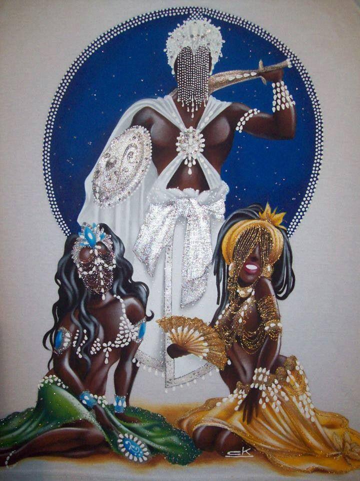 Obatala, Yemaya and Oshun