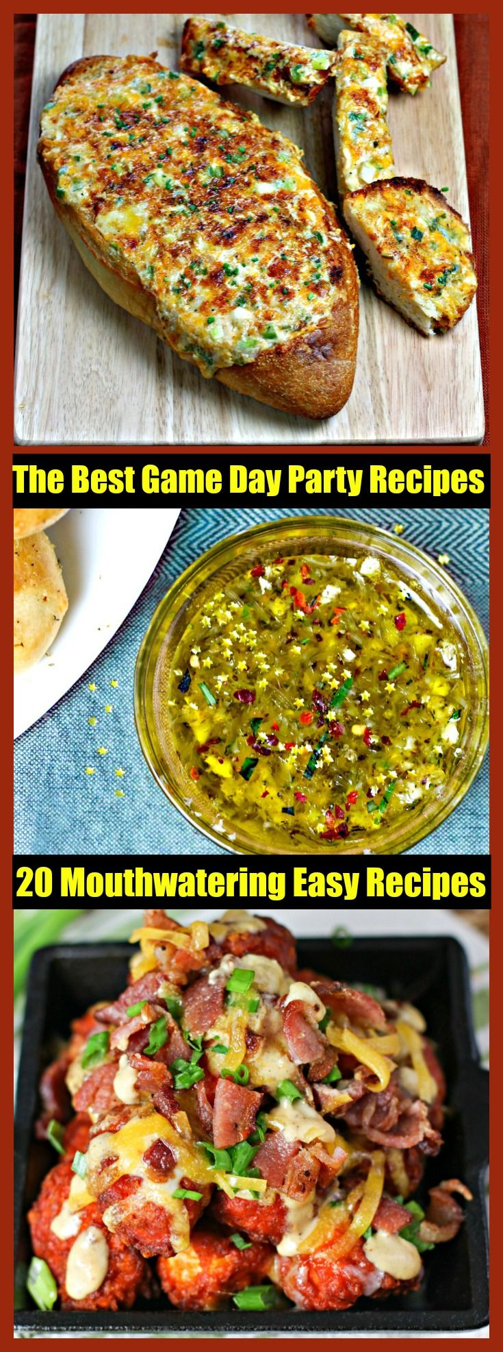 Are you ready to throw the perfect Super Bowl Party with the BEST Crowd-Ready Game Day recipe ideas? Dips, wings, chili, sliders, desserts, meatballs and more. Click to read more!