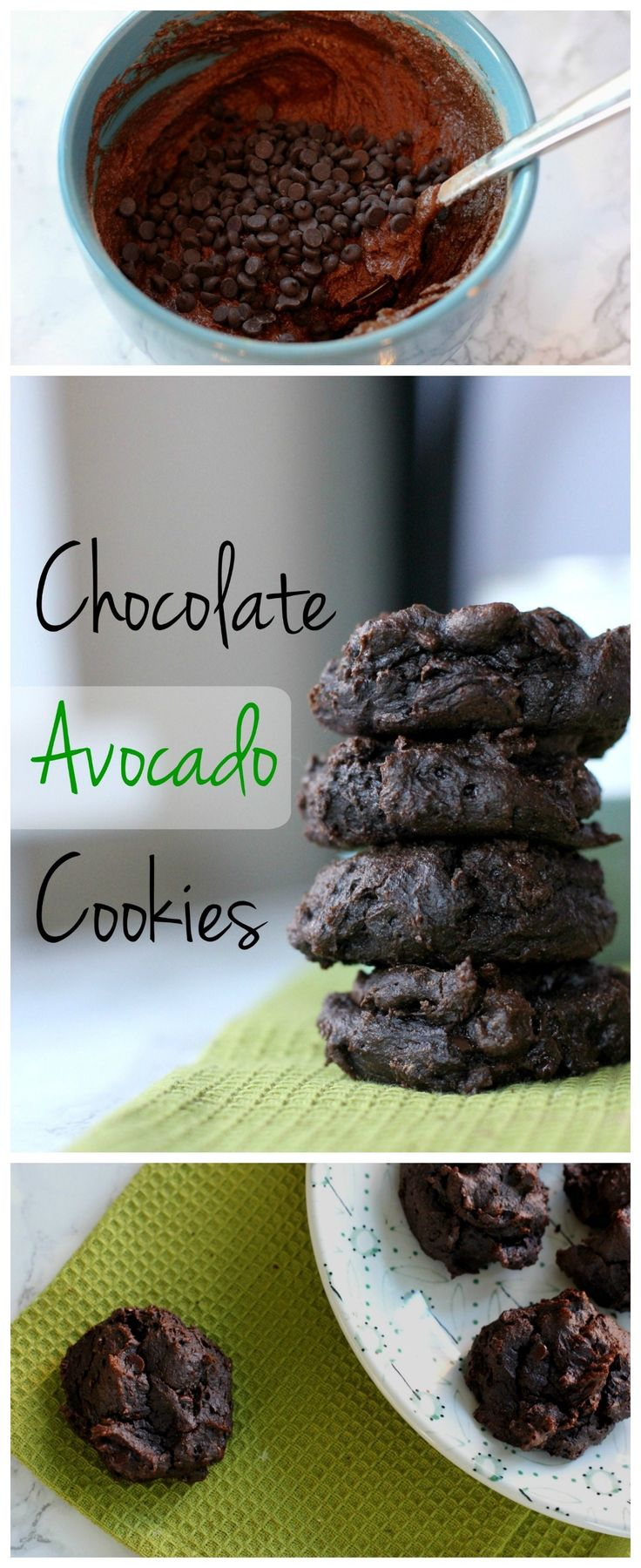 These chocolate avocado cookies are loaded with healthy fat, protein and fiber. By using coconut sugar, you don't have to worry about a sugar crash! Try this healthy cookie recipe!